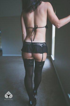 amateur photo Stockings and Underbun