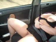 amateur photo wife flashing on commute