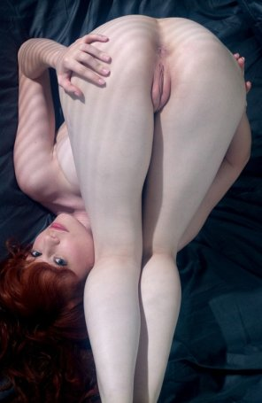 amateur photo Lovely bent over redhead