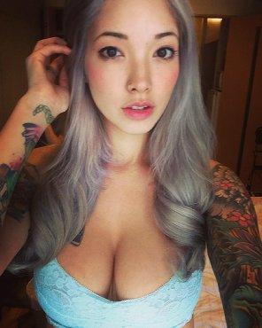 amateur photo Tattooed Asian