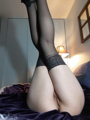 amateur photo [self] Legs up in the air with no panties on!