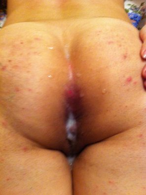 amateur photo Gave her a sticky anal-creampie!
