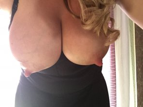 amateur photo Big Hanging Nipples