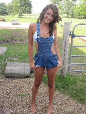 amateur photo Nice overalls