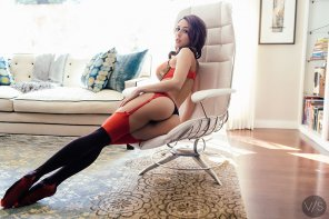 amateur photo Tianna Gergory - Red Lingerie