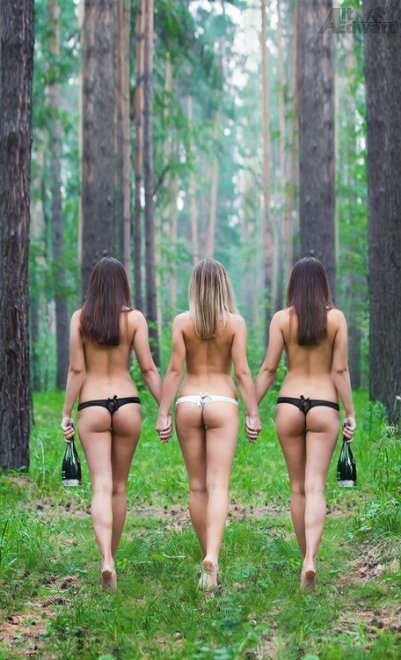 Three beautiful bottoms Porn Photo