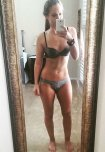 amateur photo Fit girl selfie