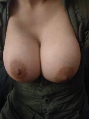 amateur photo this is how they look in something thats a button up and too small