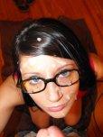 amateur photo Cutest glasses cumslut.