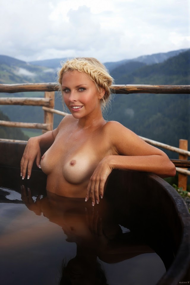 Beautiful wife naked in forest