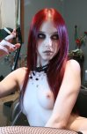 amateur photo Skinny Pale Goth Goddess [643x984] Liz Vicious