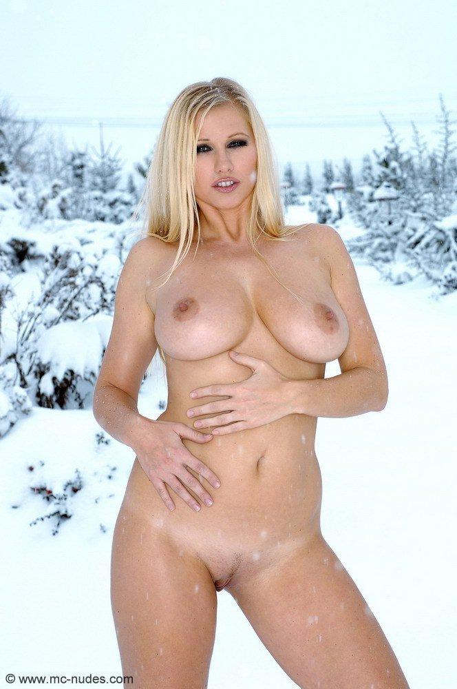 Stockings Blonde Big Tits