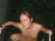 amateur photo A cute amateur babe getting out of a pool
