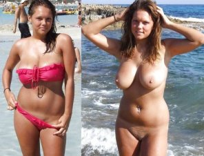 amateur photo Girl With Big Tits at the Beach