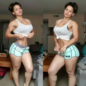 amateur photo Thick but also very fit