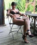 amateur photo Milf in black Lingerie