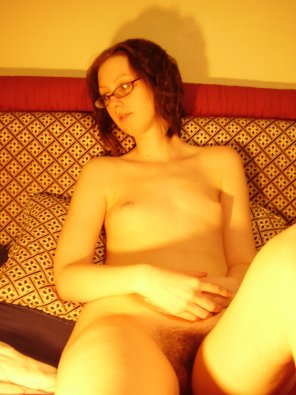 amateur photo Small tits and a hairy pussy