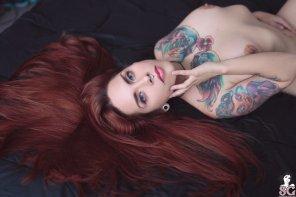 amateur photo Long hair, mermaid eyes