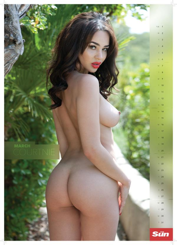 Courtnie Quinlan is Miss March in the Page 3, 2016 ...