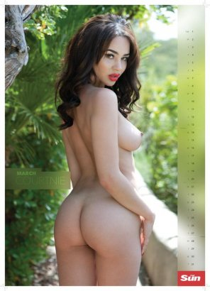 amateur photo Courtnie Quinlan is Miss March in the Page 3, 2016 calendar