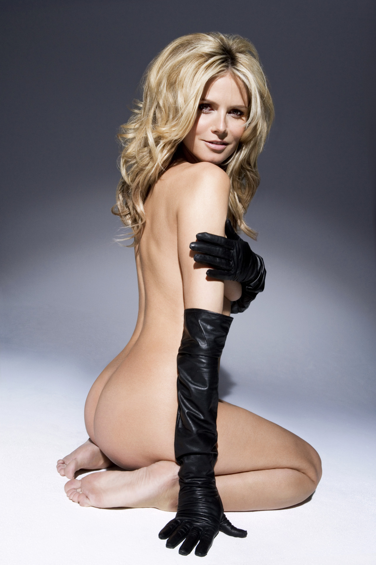Klum topless nude heidi
