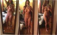 Admiring her body