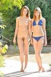 amateur photo one in a bikini, one not in a bikini