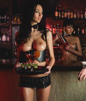 amateur photo Serving drinks