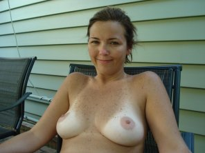 amateur photo Freckles and tanlines