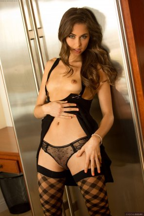 amateur photo Riley in black sheer undies