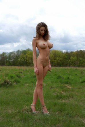 amateur photo Standing in a field