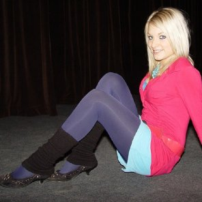amateur photo Black Legwarmers, Purple Tights