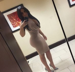 amateur photo Tight dress perfect ass