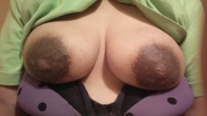 amateur photo My wifes tits and nipples got huge