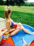 amateur photo Drinking by the pool