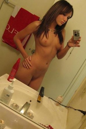 amateur photo Disgustingly hot brunette self shooter