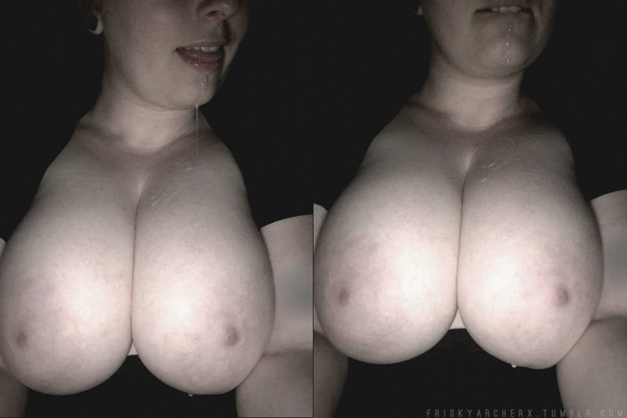 [Image] Saturday Morning Drool & Tits [my wife] Porn Photo