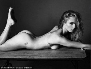 amateur photo Cara Delevingne in Esquire Magazine