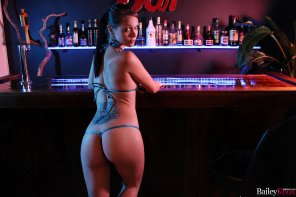 amateur photo Bailey Knox in the bar