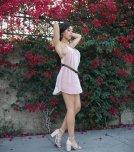 amateur photo Looking juicy in her pink dress