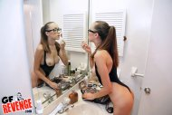 fixing her make up