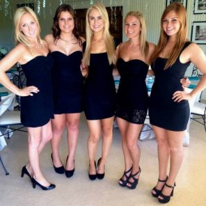 amateur photo Little black dresses