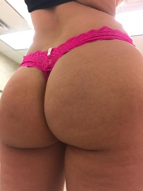 amateur photo [F] Thong of the day!!! Today I have on a VS PINK lace thong.