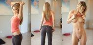 amateur photo Cutie in yoga pants