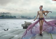 amateur photo Violin practice