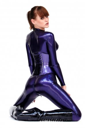 amateur photo Sexy and shiny in purple