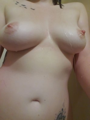 amateur photo [Image] Hope you like dripping wet shower boobs!