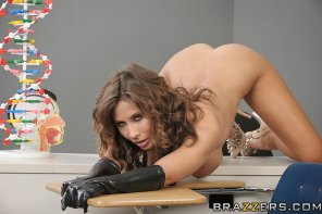 amateur photo Madison Ivy with her ass in the air and her down by a desk