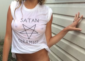 amateur photo Hail Satan!