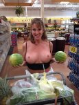 amateur photo Should I Squeeze These Melons Before Buying Them?